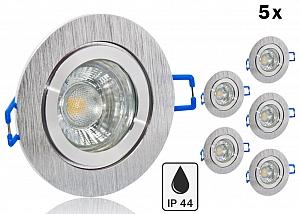 ip44 led einbauset lc light 5w alu spot bicolor rund. Black Bedroom Furniture Sets. Home Design Ideas