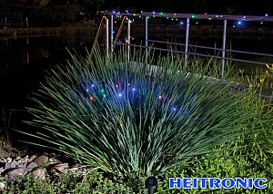 Heitronic Solar LED Lichterkette farbig 24 LED