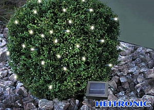 Heitronic Solar LED Lichterkette weiß 50 LED