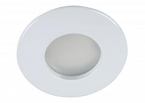 Decken Einbaustrahler für Nassraum Feuchträume IP44 mattes Frontglas Silber Matt