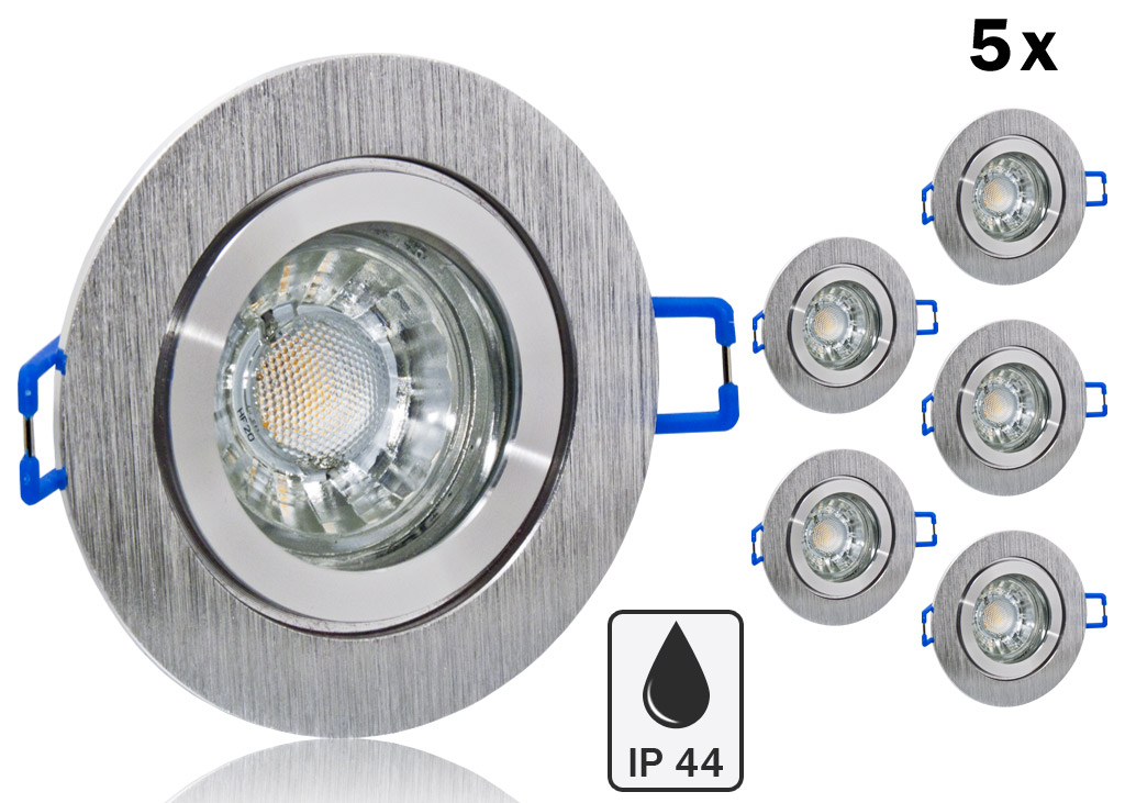 5 ip44 led einbauset bioledex mit alu rahmen bicolor rund. Black Bedroom Furniture Sets. Home Design Ideas