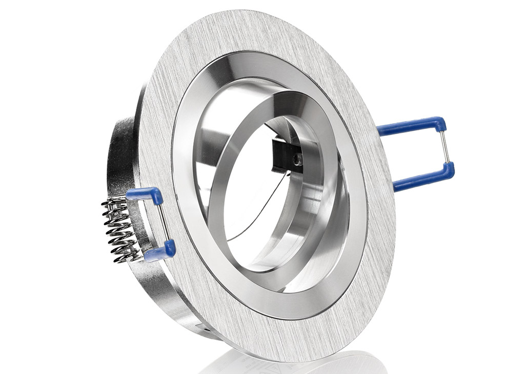 Einbaurahmen aus aluminium bicolor rund for Billige led deckenleuchten