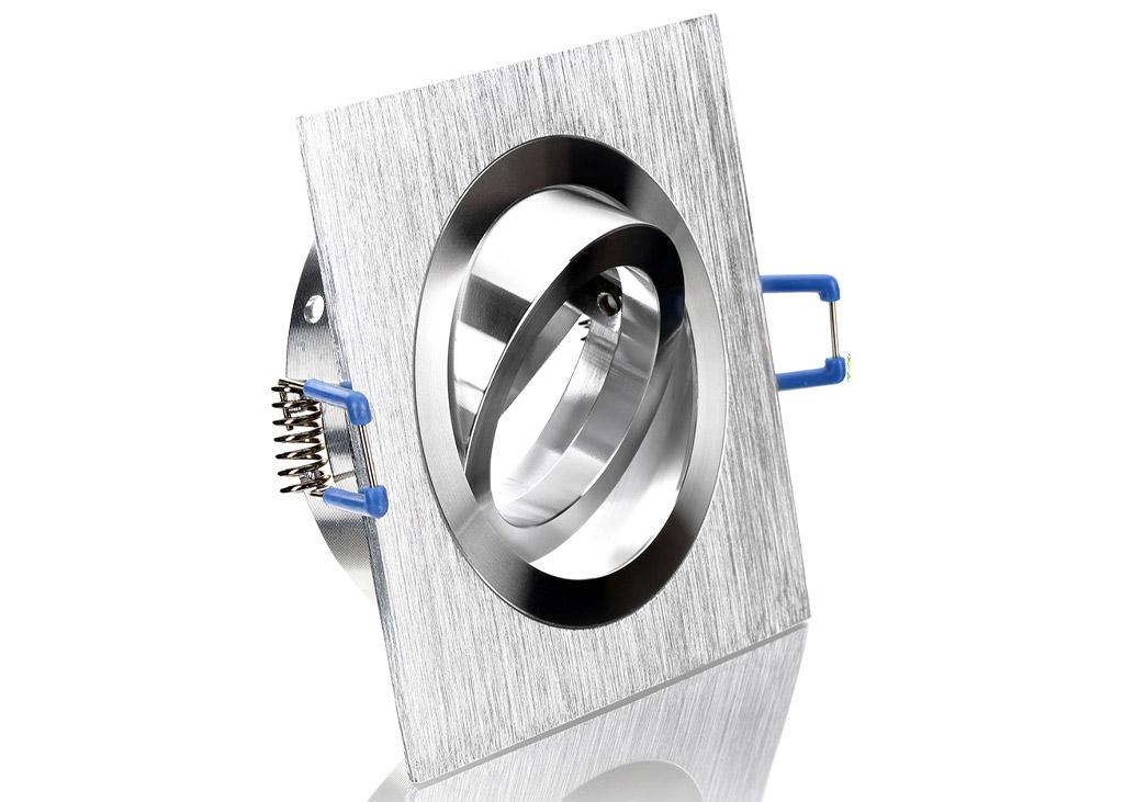 Einbaurahmen aus aluminium bicolor quadrat for Billige led deckenleuchten