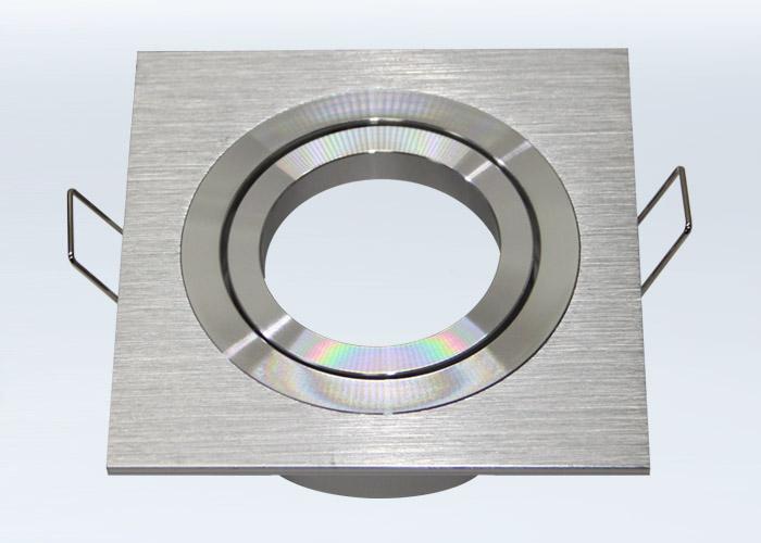 Einbaurahmen aus aluminium bicolor rund ar111 es111 for Billige led deckenleuchten
