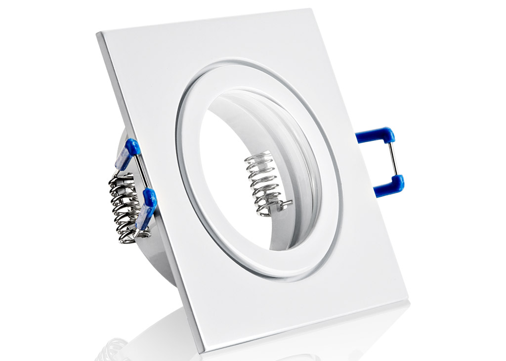 ip44 aluminium einbaustrahler wei 4eck feucht. Black Bedroom Furniture Sets. Home Design Ideas