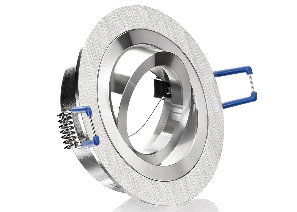 Led einbauset cob bioledex mit aluminium bicolor rahmen for Led einbaustrahler