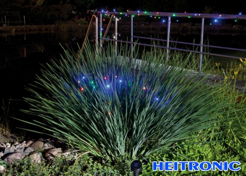 Heitronic Solar LED Lichterkette farbig 50 LED