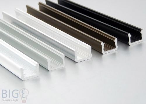 Aluminium Profil Aufputz NTB schmal für LED Streifen