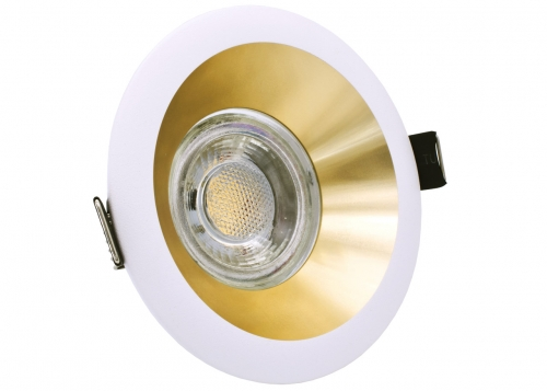 LED Line Design Einbau Downlight Oltika G-W Gold Weiß