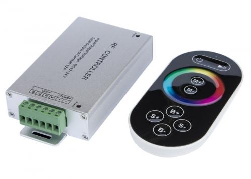 LED Stripes RGB Touch Controller mit Funkfernbedienung schwarz