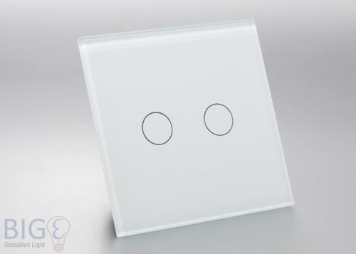 touch glas schalter einfach und doppelt. Black Bedroom Furniture Sets. Home Design Ideas