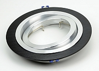Einbaustrahler AR111 / ES111 aus Aluminium Schwarz