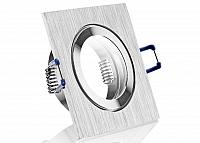 IP44 Aluminium Einbaustrahler Aluminium BiColor eckig Feuchtraum