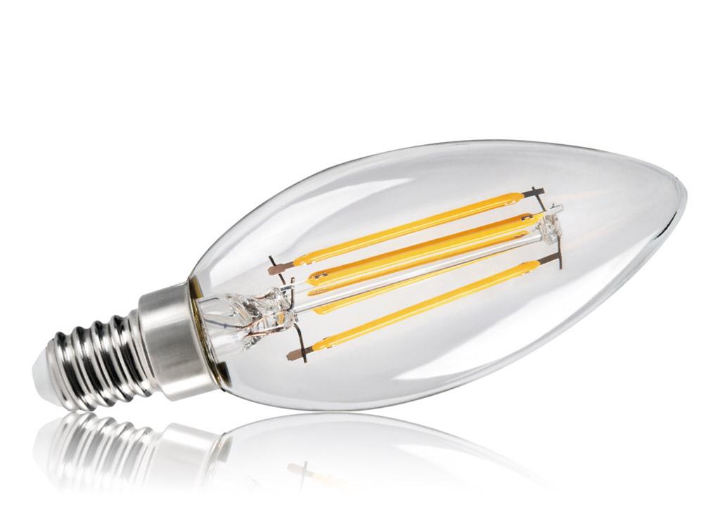 KANLUX Filament LED-Leuchtmittel XLED C35 E14 4,5 Watt