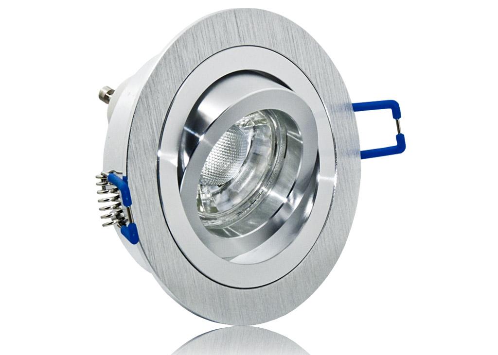 LED Einbaustrahler Set IP20 mit Aluminium BiColor Rahmen