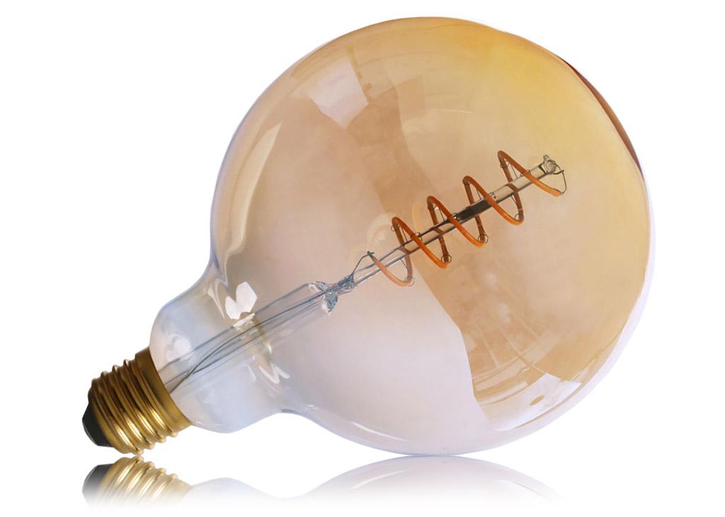 G125 E27 LED Leuchtmittel Globe mit 125mm Kopfdurchmesser